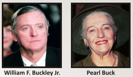 William F. Buckley Jr and Pearl Buck